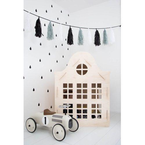houten speelhuisje klokgevel voor binnen Sassefras Meisjes Speelgoed