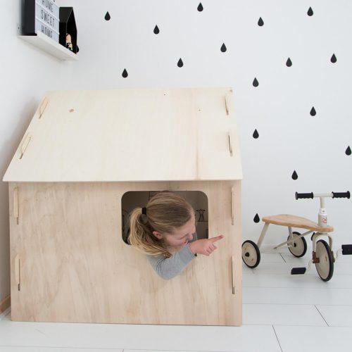 kinder speelhuisje voor binnen zijkant Sassefras Meisjes Speelgoed