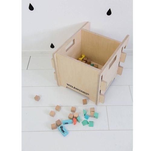 multiplex speelgoedbak van boven Sassefras Meisjes Speelgoed