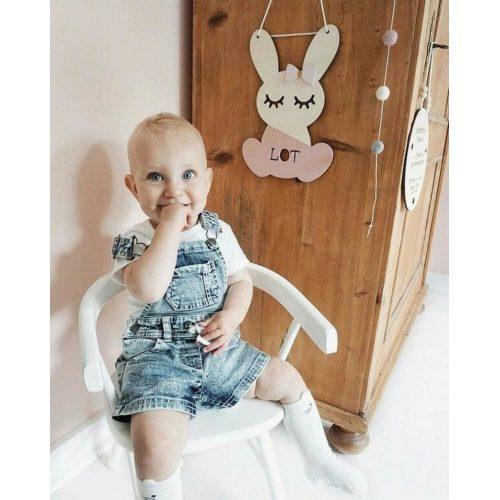 houten bunny hanger met naam Lot Sassefras Meisjes Speelgoed