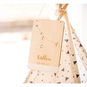 houten sterrenbeeld bordje Sassefras Meisjes Speelgoed