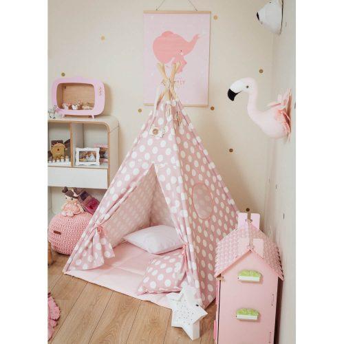 tipi tent roze met stippen voorkant Sassefras Meisjes Speelgoed