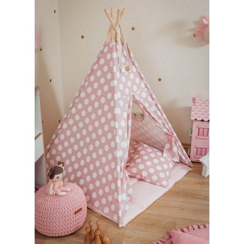 tipi tent roze met stippen zijkant Sassefras Meisjes Speelgoed