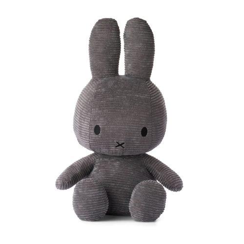 Nijntje knuffel groot 50 cm grijs voorkant Sassefras Meisjes Speelgoed