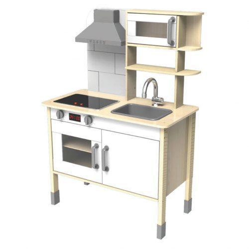houten keukentje wit Sassefras Meisjes Speelgoed