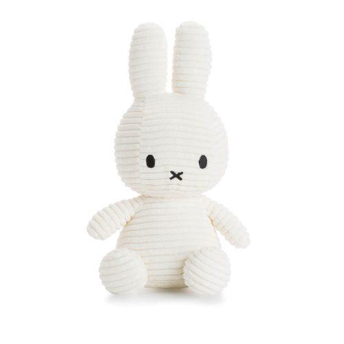 nijntje knuffel coduroy wit 24 cm Sassefras Meisjes Speelgoed