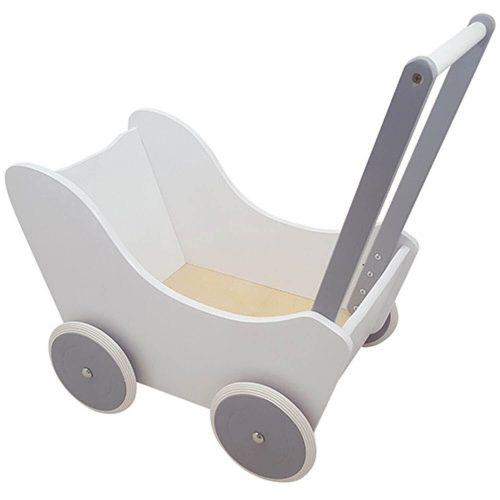 witte kinderpoppenwagen Sassefras Meisjes Speelgoed