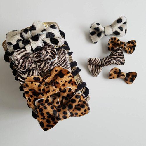 haarspeldjes met strik groot en klein print Sassefras Meisjes Speelgoed