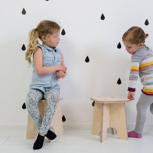 houten krukje Sassefras Meisjes Speelgoed