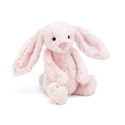 jellycat bashful bunny pink 31 cm voorkant Sassefras Meisjes Speelgoed
