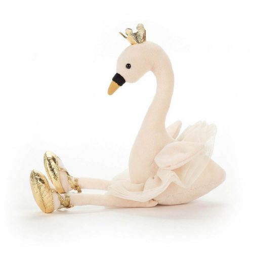 fancy zwaan zachte knuffel jellycat zijkant Sassefras Meisjes Speelgoed