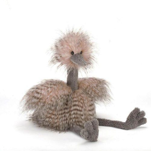 odette struisvogel van jellycat voorkant Sassefras Meisjes Speelgoed
